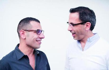 Sami Tamimi (left) and Yotam Ottolenghi partner in the restaurant business and are coauthors of